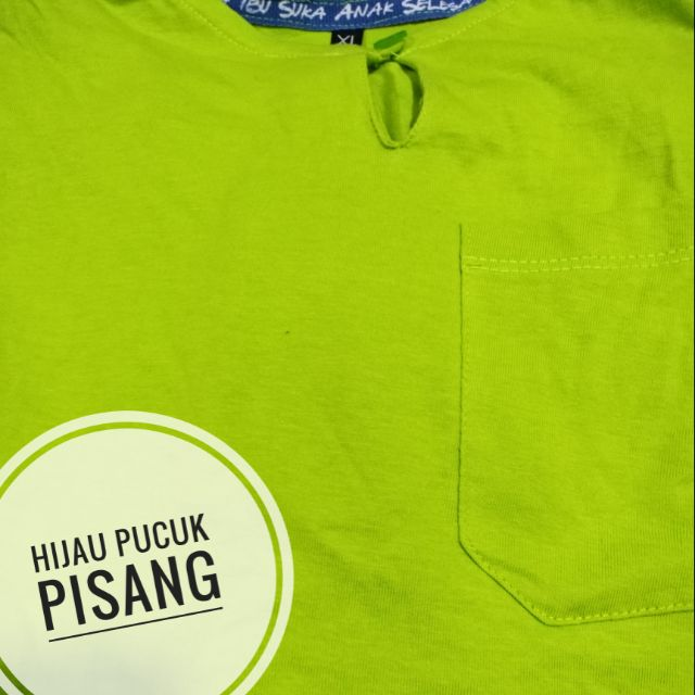 Baju Melayu Budak Kain T Shirt Hijau Pucuk Pisang Shopee Malaysia