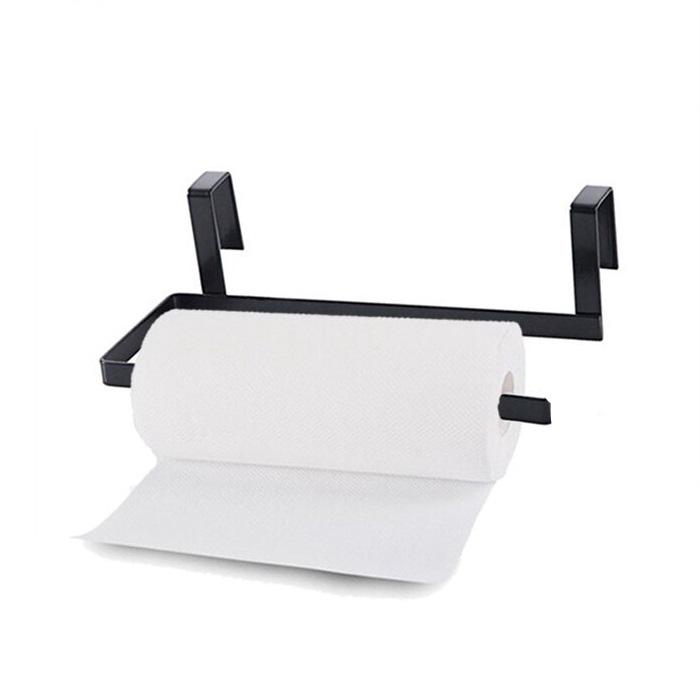 Cabinet Hanging Shelf Toilet Paper Towel Rack Paper Towel Roll Holder Organizer