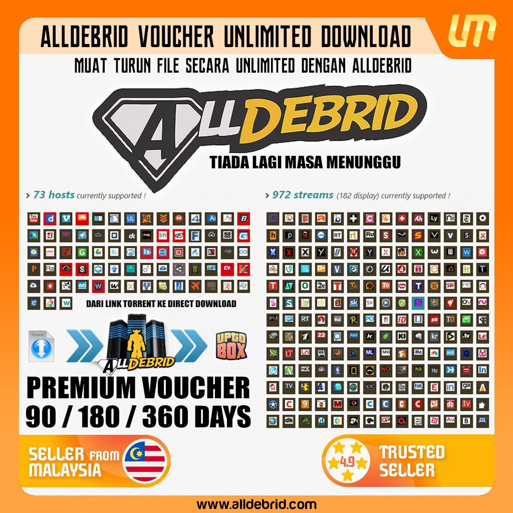 Alldebrid Premium Code (30 Days /90 Days /180 Days /360 Days)