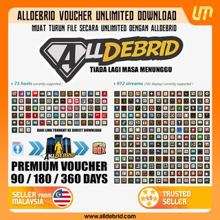 AllDebrid Premium Download/Torrent/Stream | All In One Packages | Unlimited  Speed | Unlimited Bandwidth
