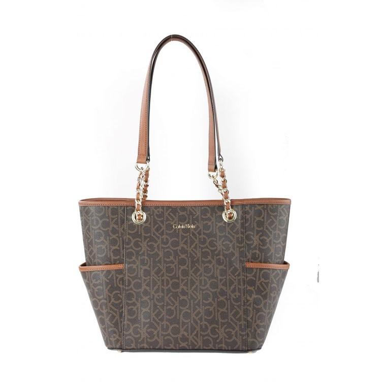 30c60bb7a Calvin Klein H4GAJ1HU Key Item Monogram Tote Bag for Women | Shopee Malaysia