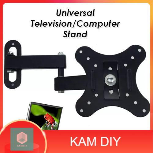 "[M'SIA STOCK] Adjustable Wall Mount Slim Bracket Flat Stand 14""-27"" Plasma Monitor LCD LED"