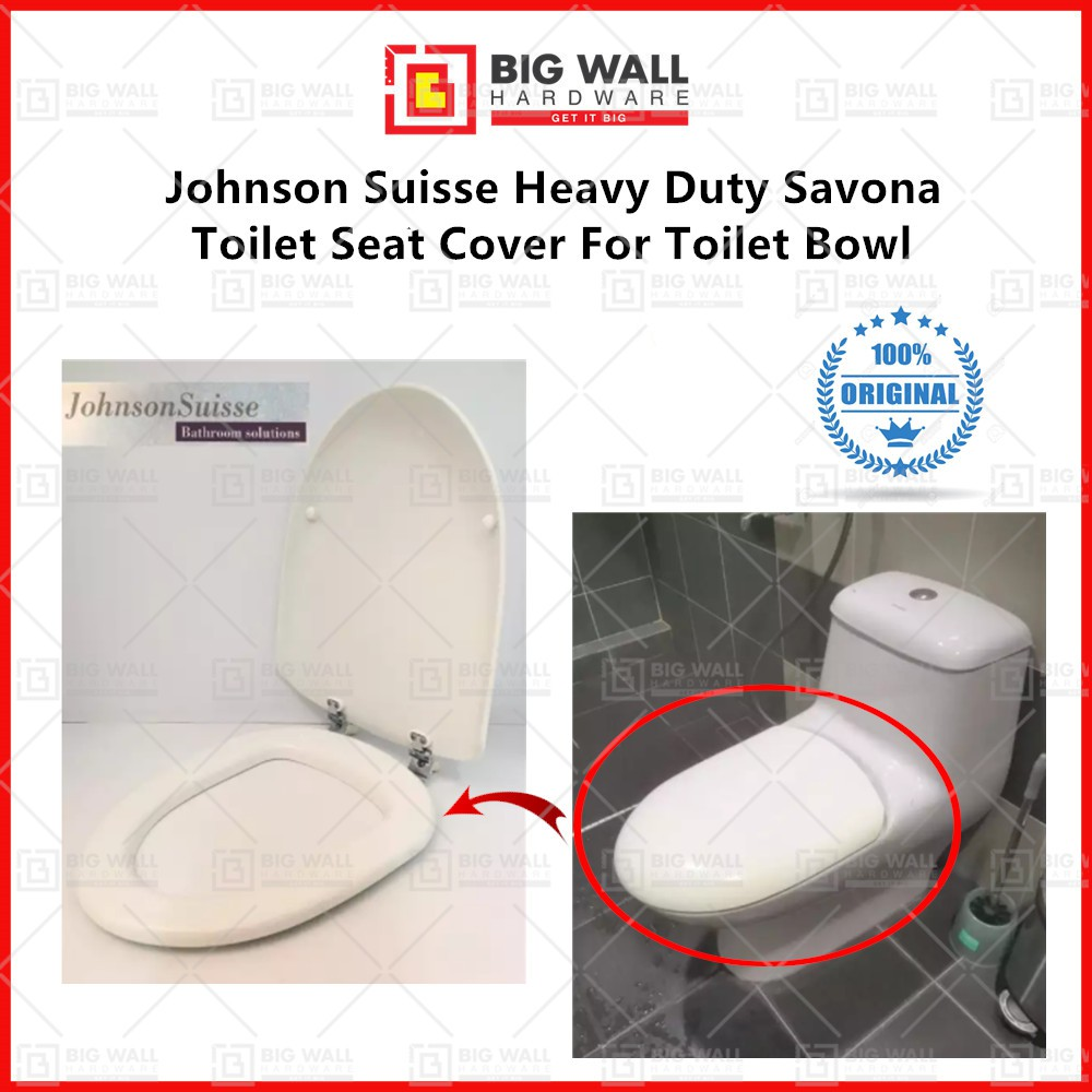 Johnson Suisse Heavy Duty Savona Toilet Seat Cover For Toilet Bowl Penutup Tandas Big Wall Hardware