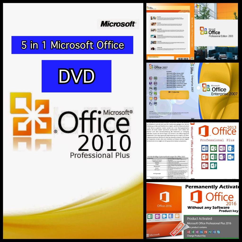 Microsoft Office Full Version (5 in 1) DVD