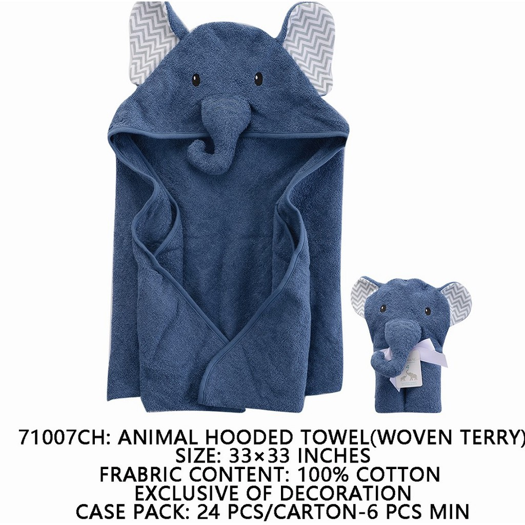 9ba5e70351 Luvable Friends Animal Face Hooded Towel Woven Terry- Fawn 57077 ...