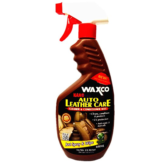 Waxco Auto Leather Care Cleaner & Conditioner Wax (600ml)