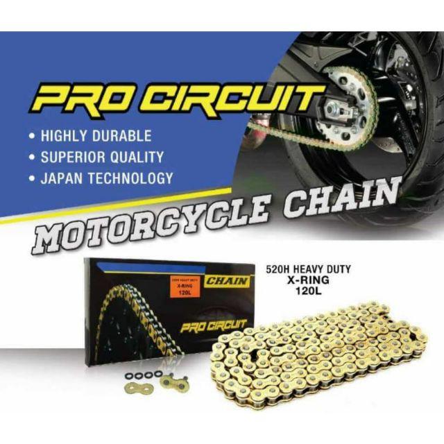 Versys 250/650 Ninja 250/Z250/SL/Z250SL/R25 Xring Pro Circuit Chain 520 XJ6  GOLD