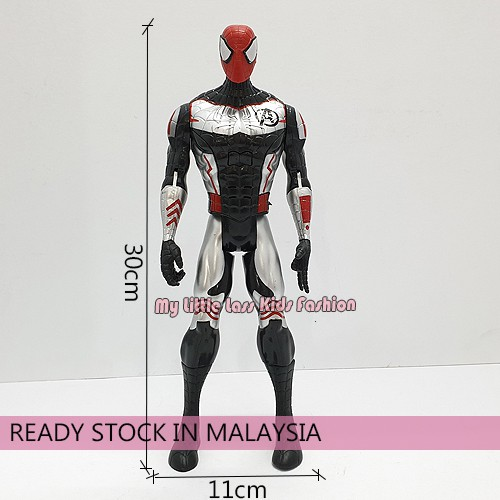 Movie Superhero PVC Figures Avengers 4 30cm with sound and light Hulk Spiderman Captain Ironman Black Panther