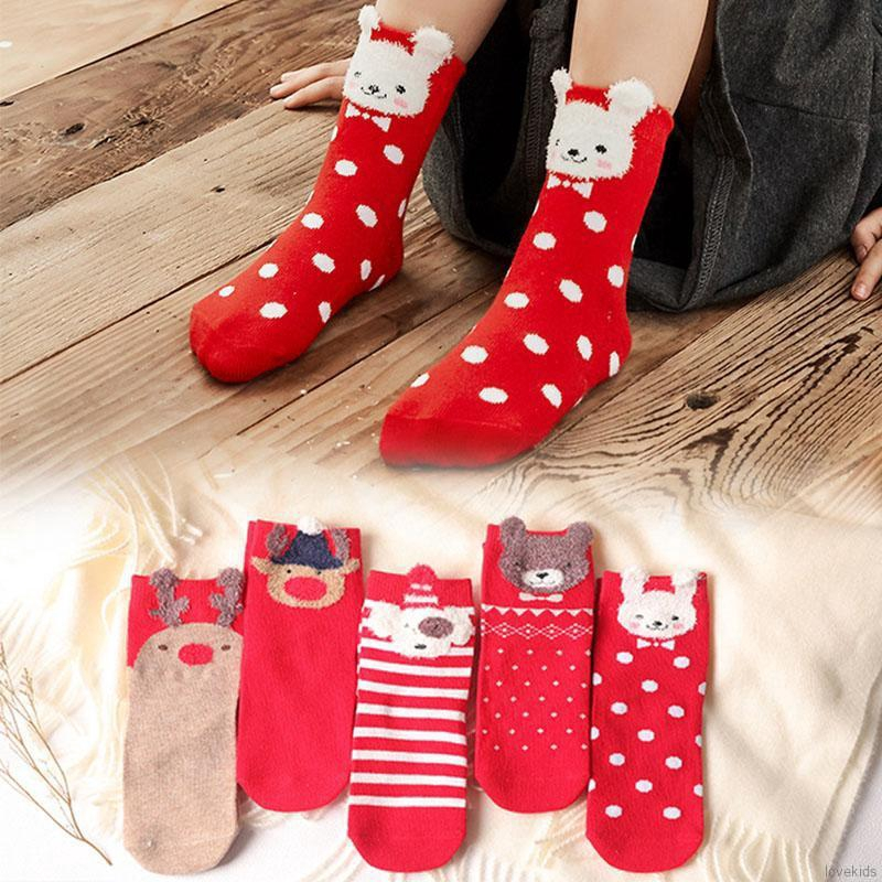 Boy//Girl Soft Cute Christmas Holiday Casual Cotton Socks,3 pack