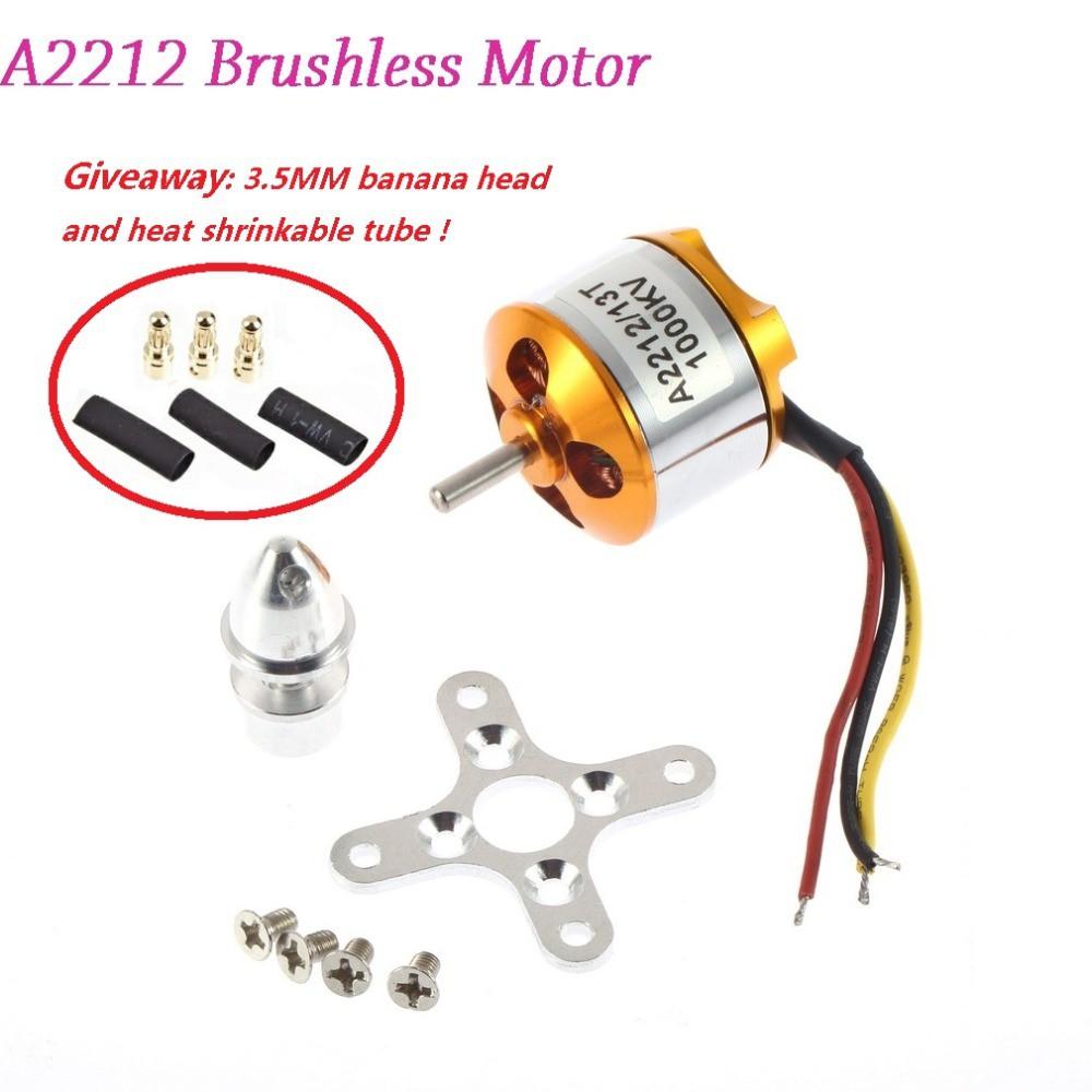 A2212 Brushless Motor 930KV 1000KV 1400KV 2200KV 2700KV For RC Aircraft  Plane