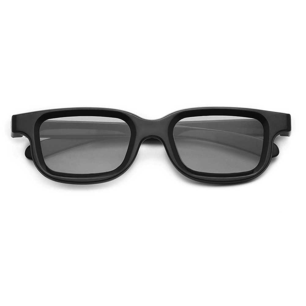 VQ163R Polarized Passive 3D Glasses for 3D TV Real 3D Cinemas for Sony Panasonic (Black)
