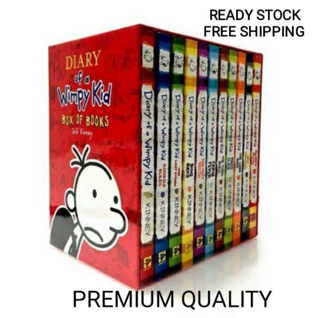 Ready stock  Diary of a Wimpy Kid box set 12 Books