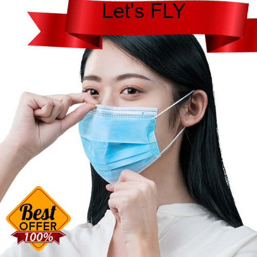 Great Discount [Local Ready Stock] 50 Pcs Disposable 3ply non Woven Face Mask With Ear Loop Breathable -Fast Delivery