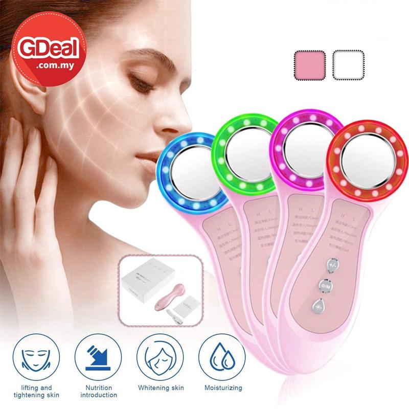 GDeal Women Face Cleansing Instrument Photon Skin Rejuvenation Beauty Instrument Ultrasonic