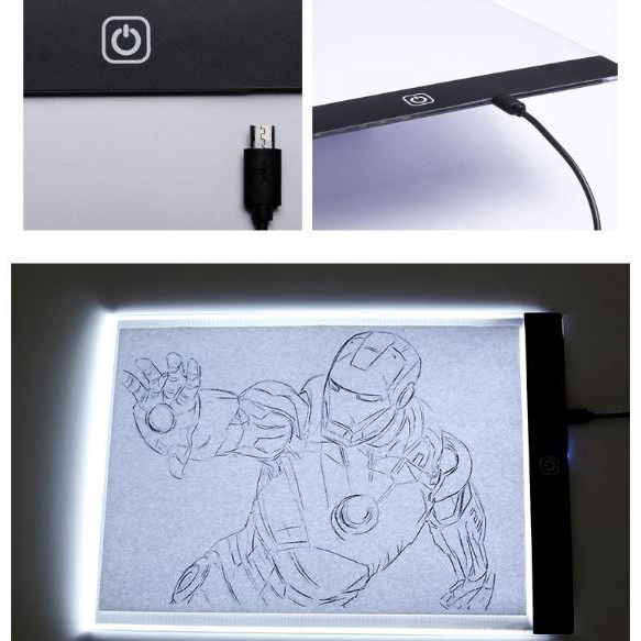 Creative LED Copying board A4 Copy Desk LED Anime Glowing Writer Painting Drawing Board
