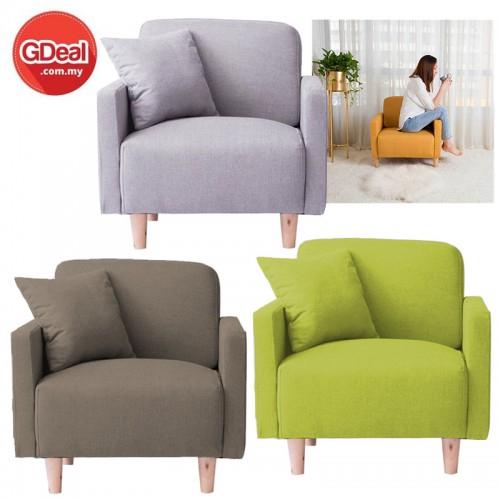 Balcony Small Sofa Modern Minimalist Single Leisure Creative Fabric Sofa  Chair