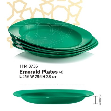 Tupperware Emerald Plates