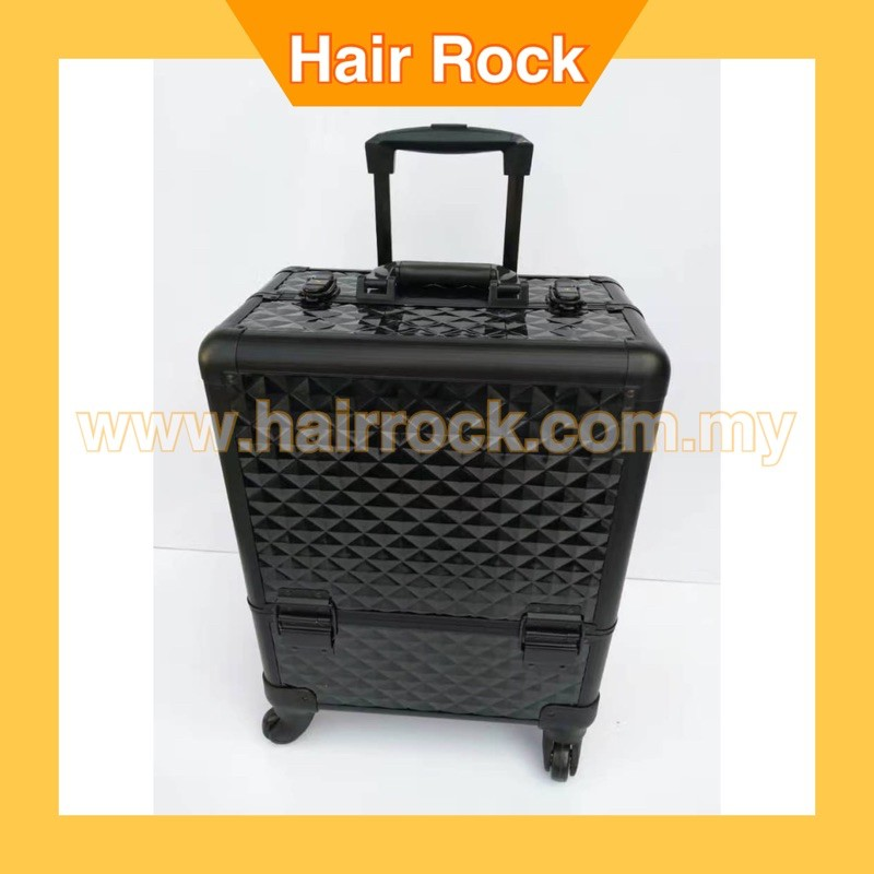 Aluminum frame+ABS Cosmetic Case,Makeup tool Box with wheels
