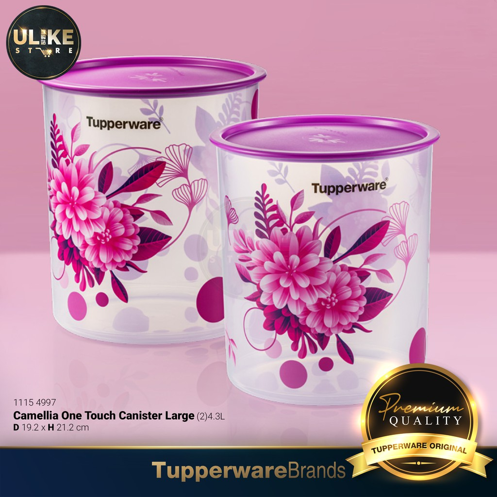 Tupperware Camellia One Touch Topper Junior or Canister Large (600ml / 4.3L) 《特百惠》干货储藏保鲜盒