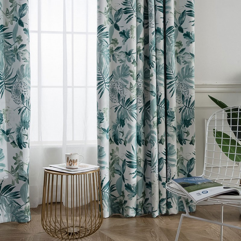 Ready Stock Green Plant Window Curtain For Living Room Bedroom Flower Curtain Printing Blackout Curtains Shading 70 Custom Shopee Malaysia