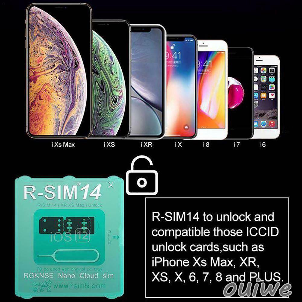 R-SIM14 2019 R-SIM Nano Unlock Card For IOS IPhone X/XS/MAX/8/7/6/6s/5S/ 4G  om