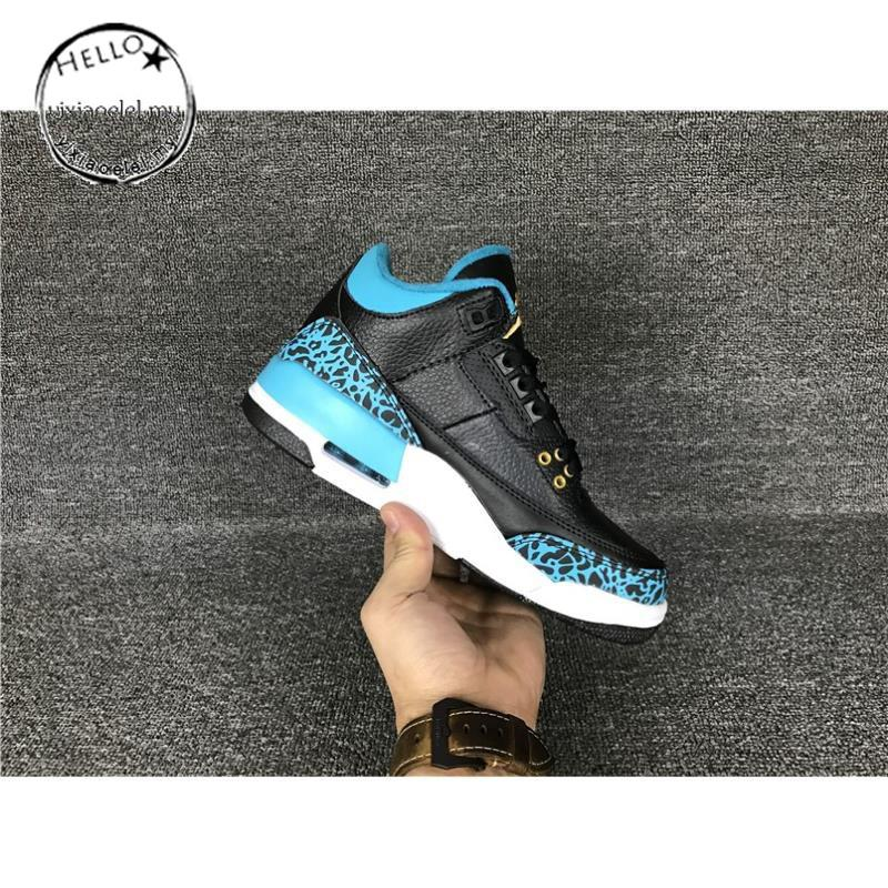 premium selection ee86e e1d47 Nike AIR JORDAN 3 RETRO Basketball ShoesBlack sky blue   Shopee Malaysia