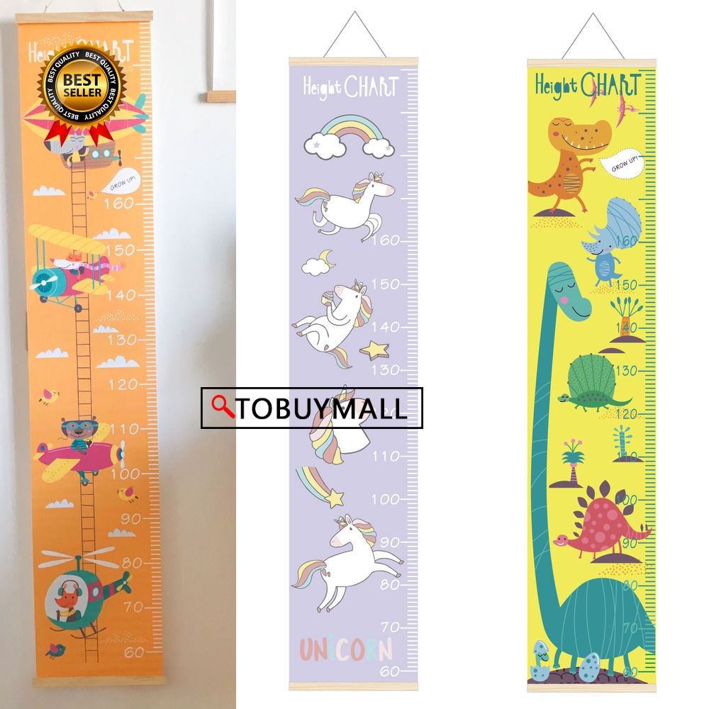 Hanging Canvas Height Measurement Ruler Kids Baby Growth ...
