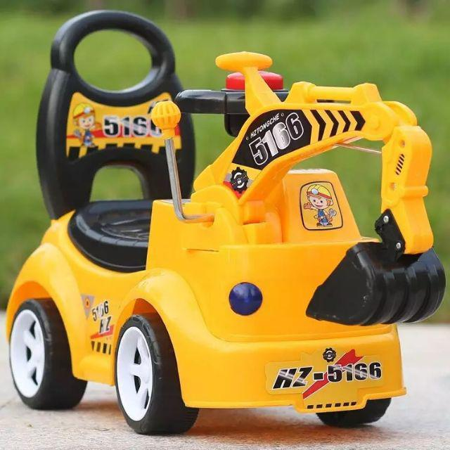 [ READY STOCK ]  Children Construction Excavator Music Baby Walker Toy Jualan Murah Budak Mainan Outdoor Pretend Play Led