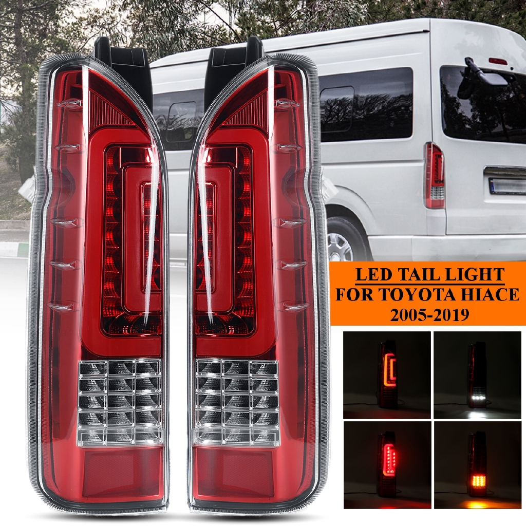 Pair LED Rear Tail Brake Light Turn Signal Lamp Assembly For Toyota Hiace  05-19