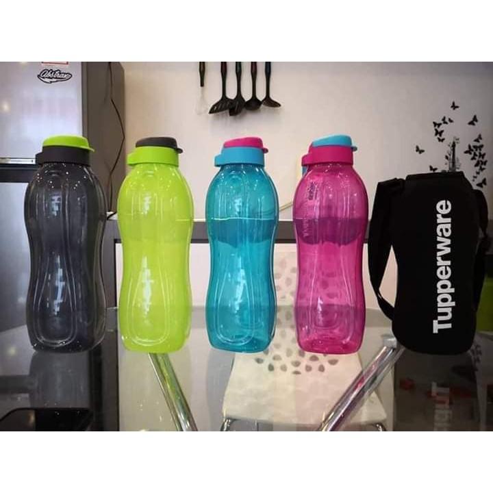 Tupperware NEW SIZE Eco Bottle Flip Top 1.5L (L10cm W9.3cm H29.5cm) LIMITED EDITION or eco bottle brush