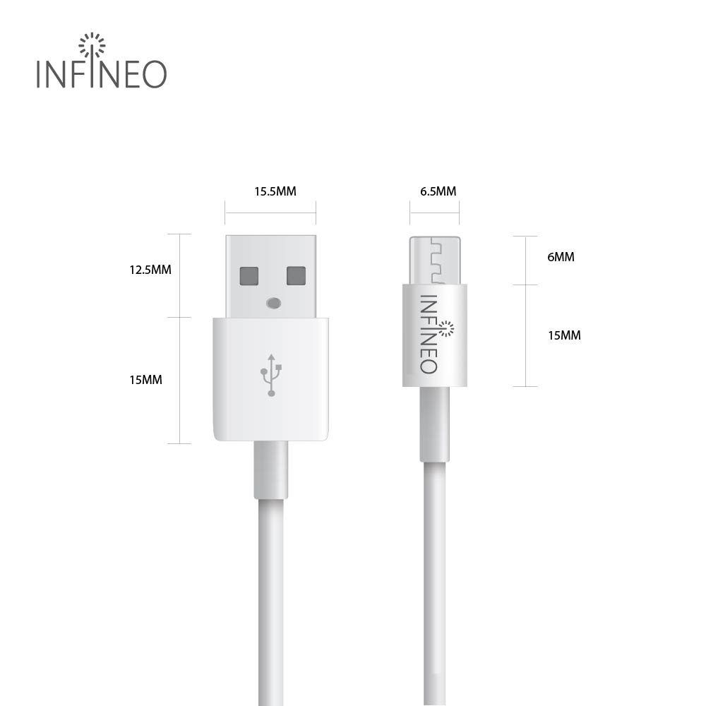 Infineo Micro USB to USB Android Data Cable (1 Meter)