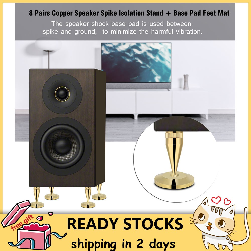 Consumer Electronics 20*10mm Mini Solid Aluminum Speaker Cabinet Isolation Feet Dac Cd Turntable Amp Pad Floor Stand Base Golden Anodized 4pcs