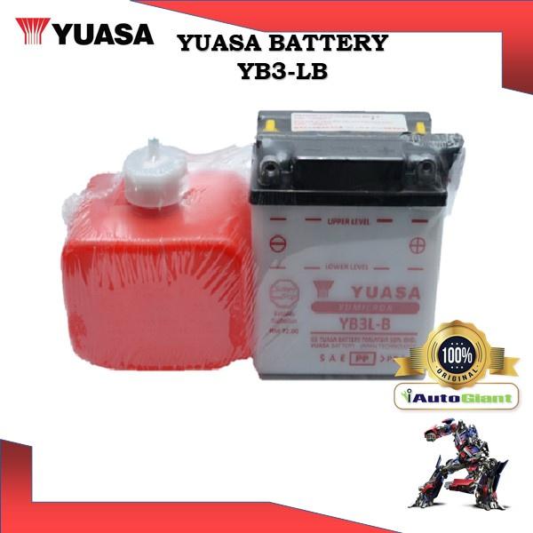 YUASA BATTERY YB 3L-B YAMAHA RXZ/SS/TZM/SUZUKI RC100/GX/SMASH/MODENAS KRISS/KAWASAKI NINJA