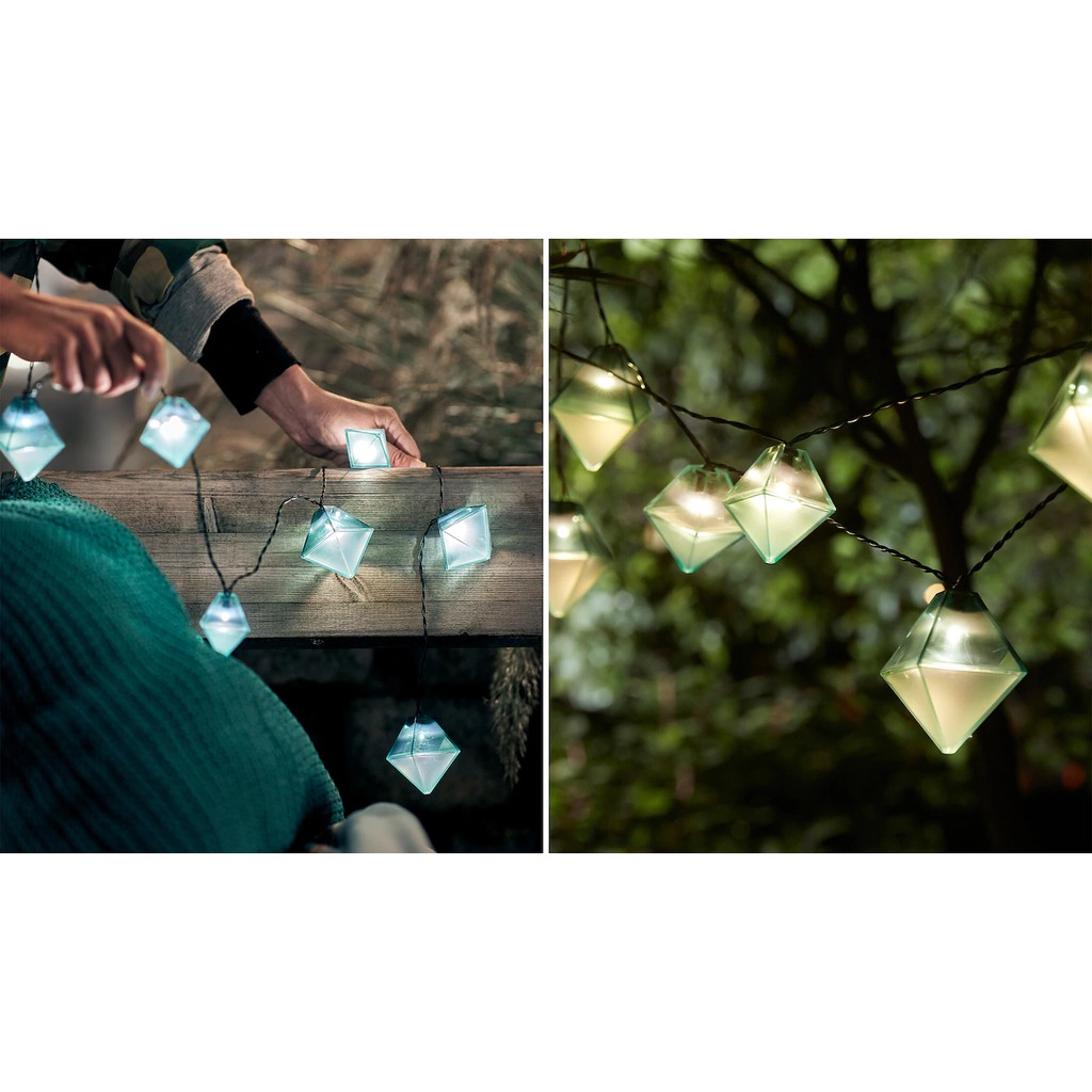 Ikea Led Lighting Chain With 12 Bulbs Outdoor Solar Powered Diamond Shaped Blue Raya Light Shopee Malaysia