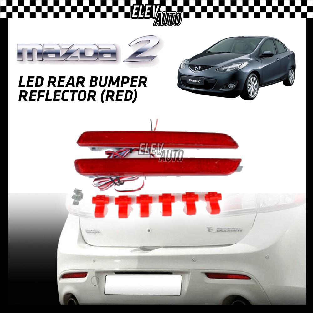 SAXO LED Rear Bumper Reflector (Red) Mazda 2