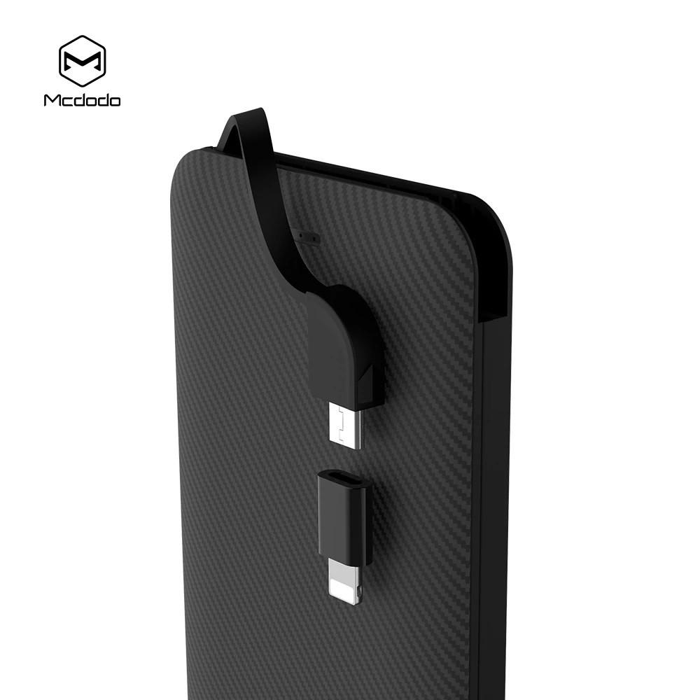 MCDODO MC5000 POWER BANK 5000MAH POLYMER 1 USB 1A OUTPUT [FREE ADAPTER] MICRO USB LIGHTNING CABLE OVERCHARGE PROTECTION