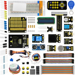 Tutorial KEYESTUDIO Electronics Components Programming Coding Starter Learning Kit for Arduino Mega 2560 Project STEM Education Science Breadboard Circuit Set for Kids Teens Adults
