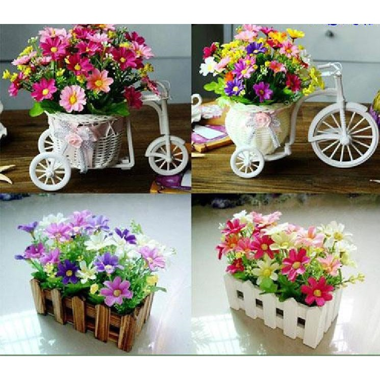 Artificial Flowers Fresh Decoration Living Room Artificial Flowers Plastic Small Flower Vase Garden Rose Decoration Shopee Malaysia