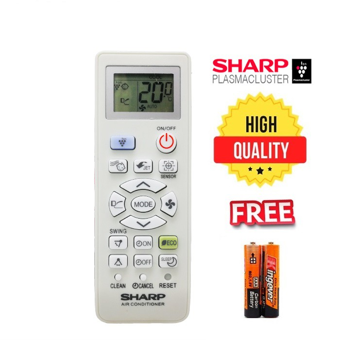 Sharp Air Cond Remote Control for sharp aircond replacement 851/910