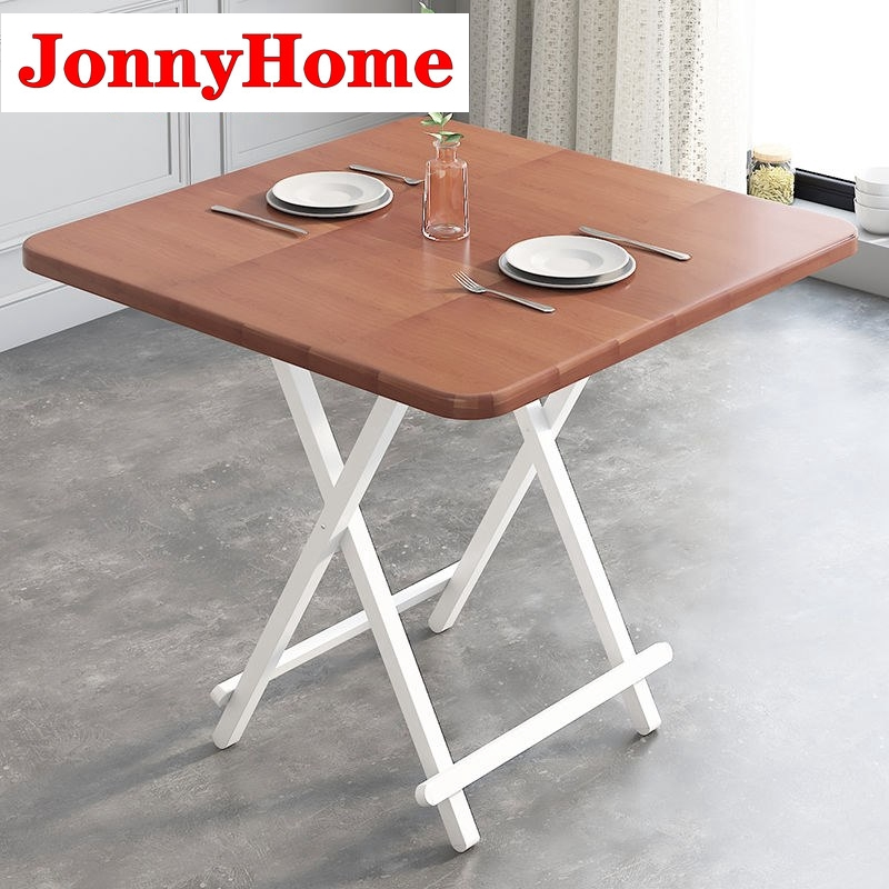 Simple Household Folding Table Dining Table Rental Room Simple Square Table 4 6 People Dining Table Simple Portable Dini Shopee Malaysia