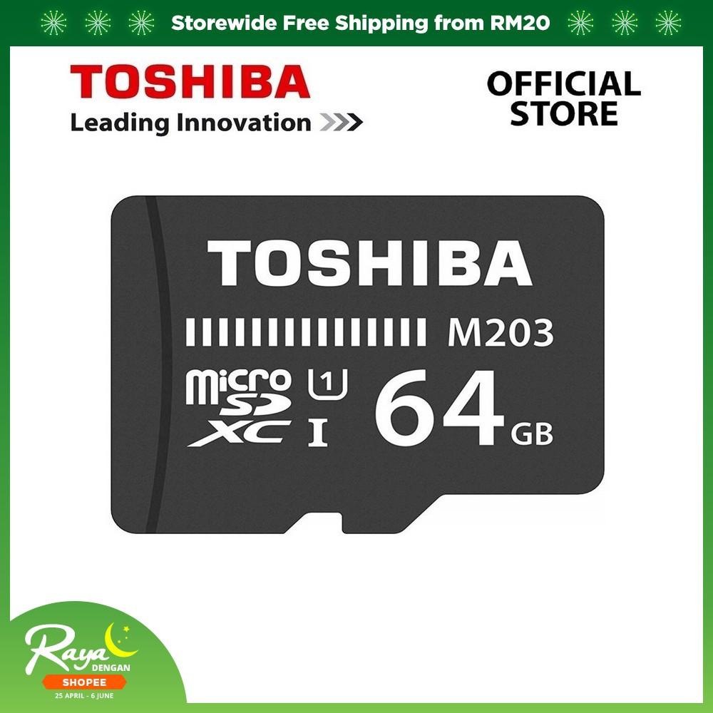 Toshiba M203 UHS-I U1 Class 10 MicroSD Card Without Adapter  (100MB/16GB/32GB/64GB/128GB/256GB)