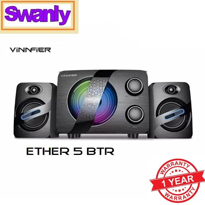 d7078b21708 VINNFIER ECCO 2U 2.0 Sound Bar Speaker RGB 7 Color Pulsating LED Lights  6watts | Shopee Malaysia
