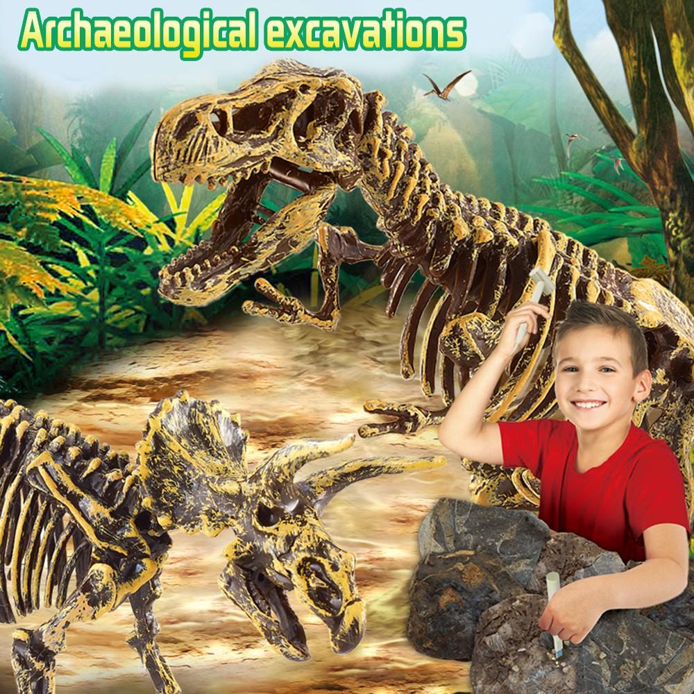 ✿✿Dinosaur Toys Science Educational Dig Kit, Dinosaur Fossil Excavation Kits