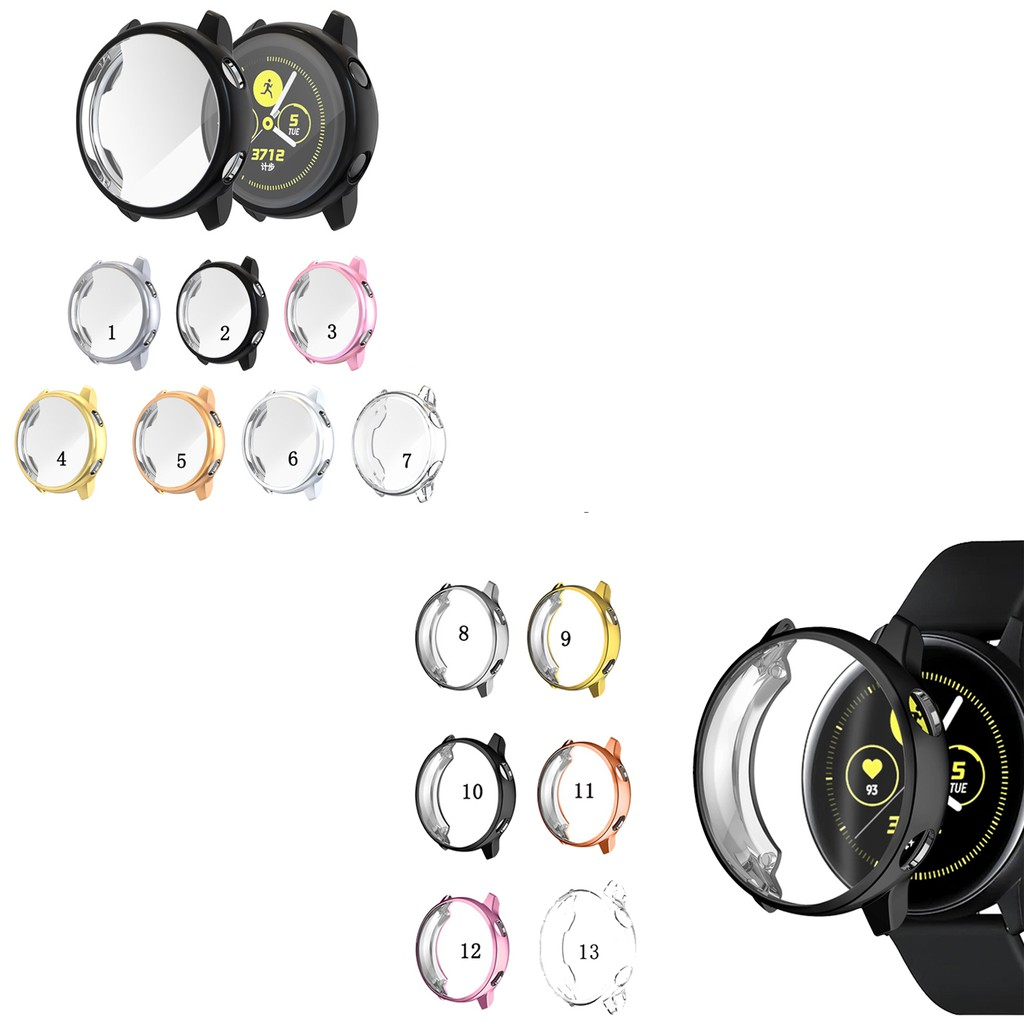 TPU Case Cover Full Screen Protector for Samsung Galaxy Watch Active
