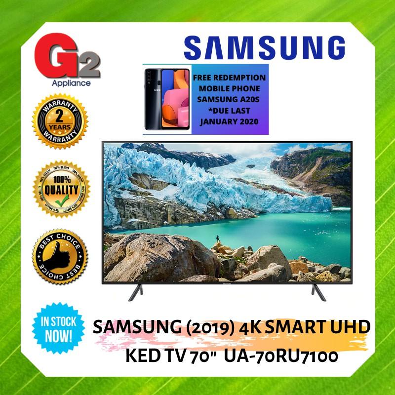 "SAMSUNG (2019) 4K SMART UHD LED TV 70"" UA-70RU7100-SAMSUNG WARRANTY MALAYSIA"