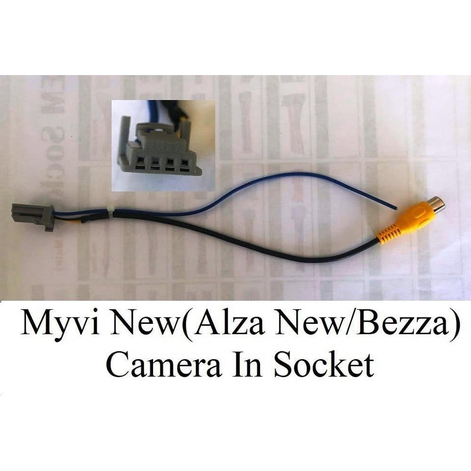 socket cable camera wire perodua myvi new , bezza , alza new