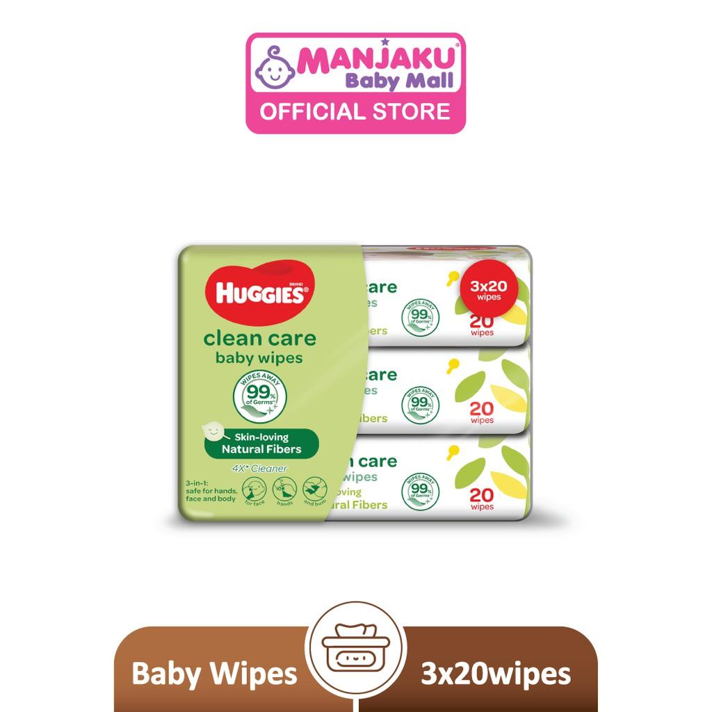 Huggies Baby Wipes (20's x 3)