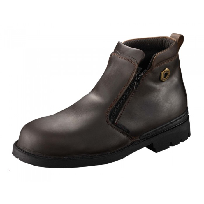 *Promotion* Black Hammer BH4663 Genuine Leather Safety Shoes