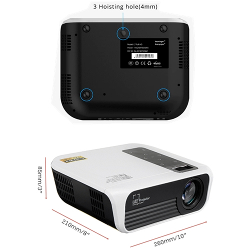 UNIC T8 Home Cinema Android WiFi LED Projector - 4500 Lumens