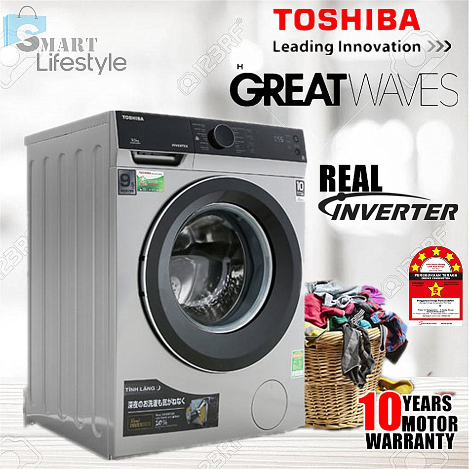 Toshiba 8.5KG FRONT LOAD REAL INVERTER WASHER TW-BH95M4M